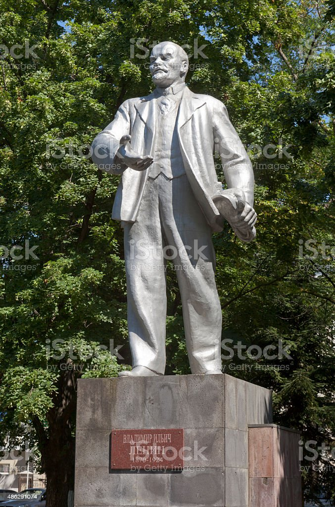 Monument to Lenin in the resort town of Gelendzhik stock photo