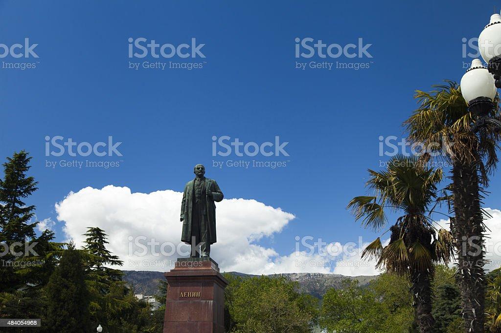 Monument to Lenin stock photo