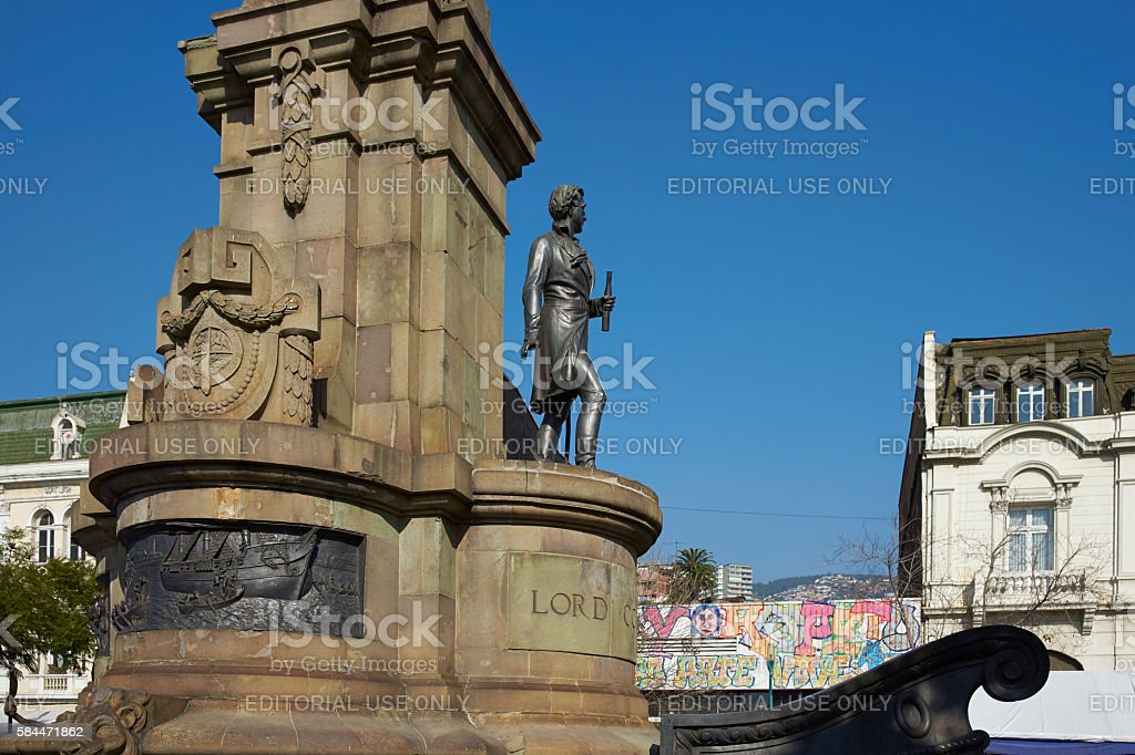 Monument to Lord Cochrane stock photo
