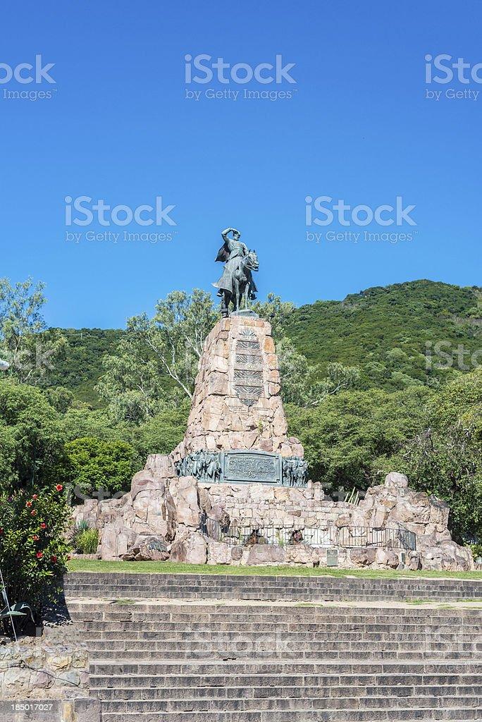 Monument to Martin Miguel de Guemes, Salta stock photo