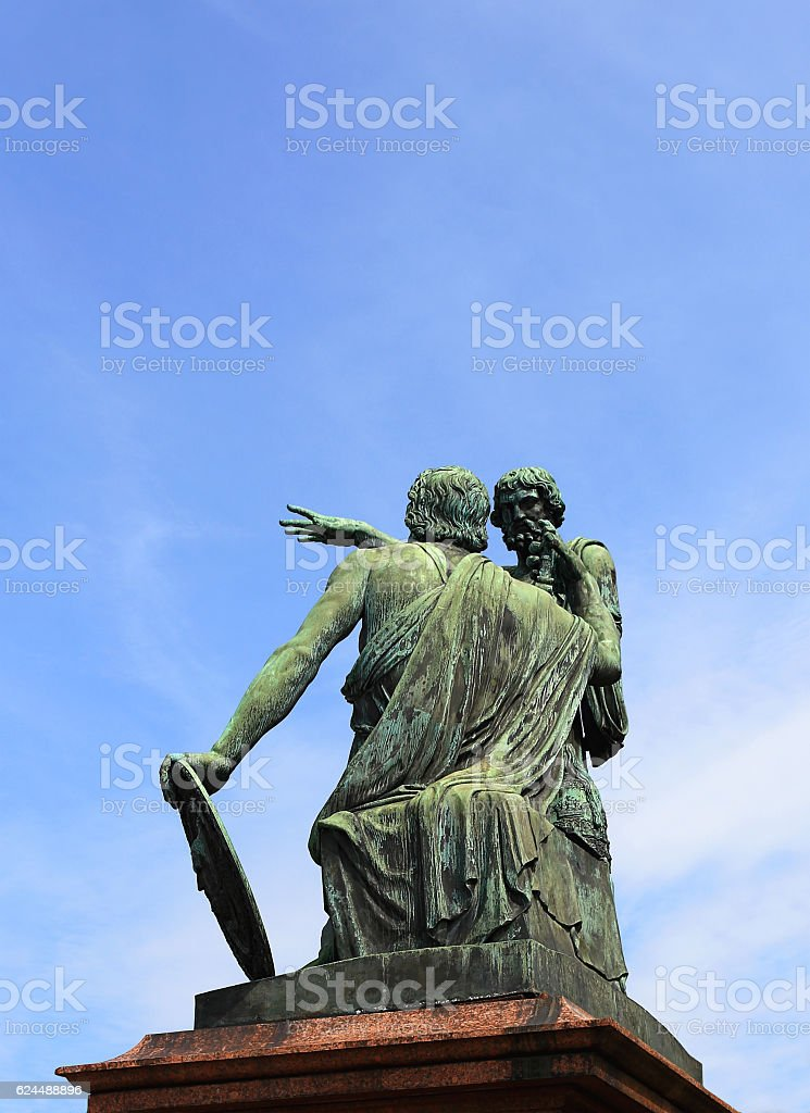 Monument to Minin and Pozharsky in Moscow stock photo