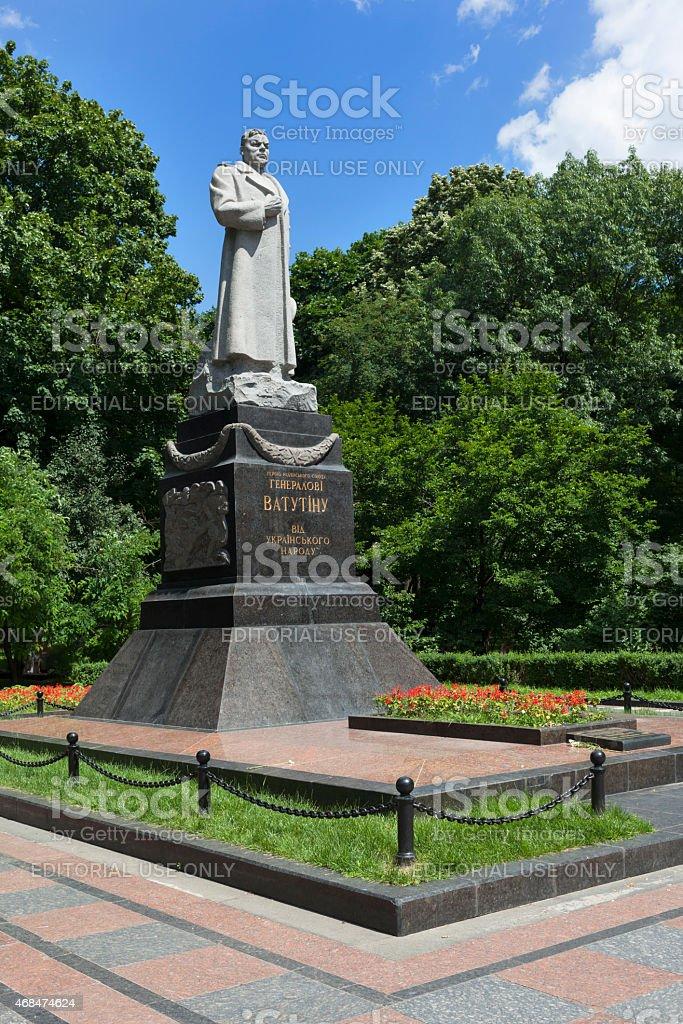 Monument to Nikolai Fedorovich Vatutin stock photo