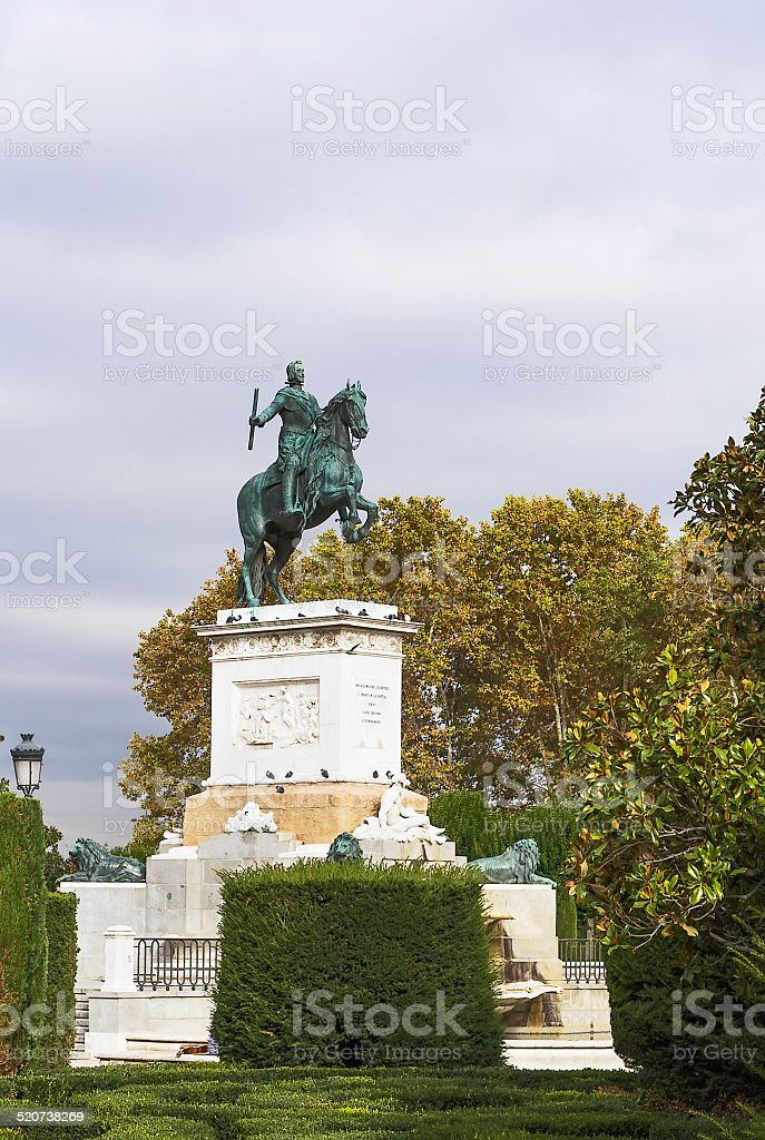 Monument to Philip IV, Madrid stock photo