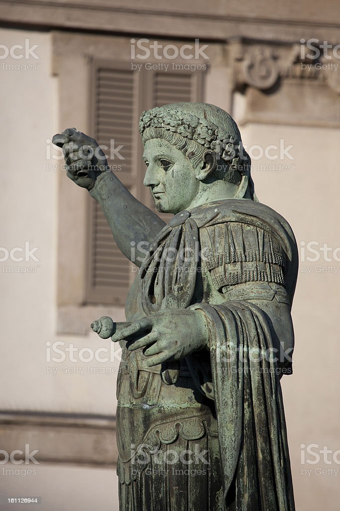 Monument to Roman emperor Constantine I royalty-free stock photo