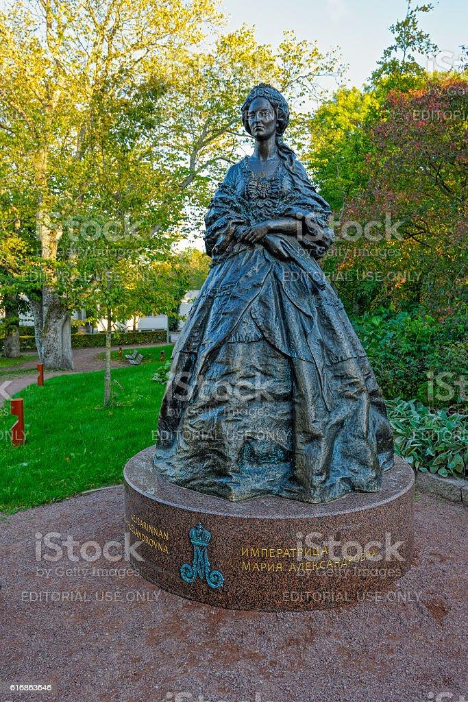 Monument to Russian empress Maria Alexandrovna in Mariehamn stock photo
