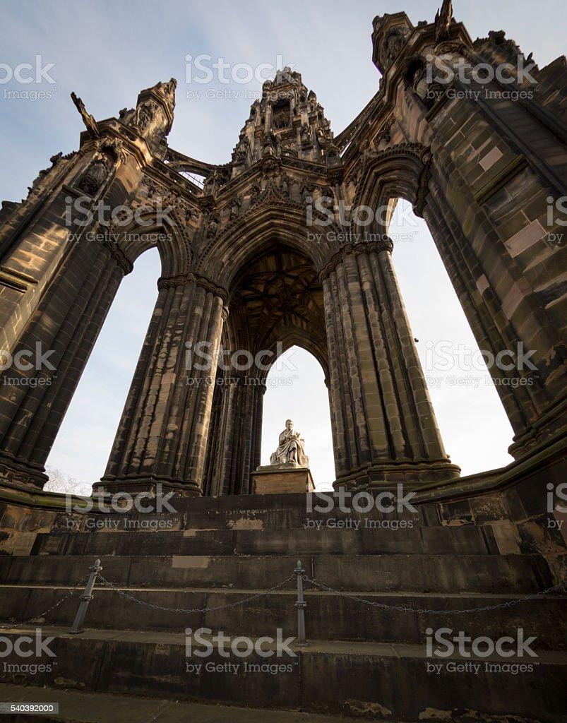 Monument to Sir Walter Scott stock photo