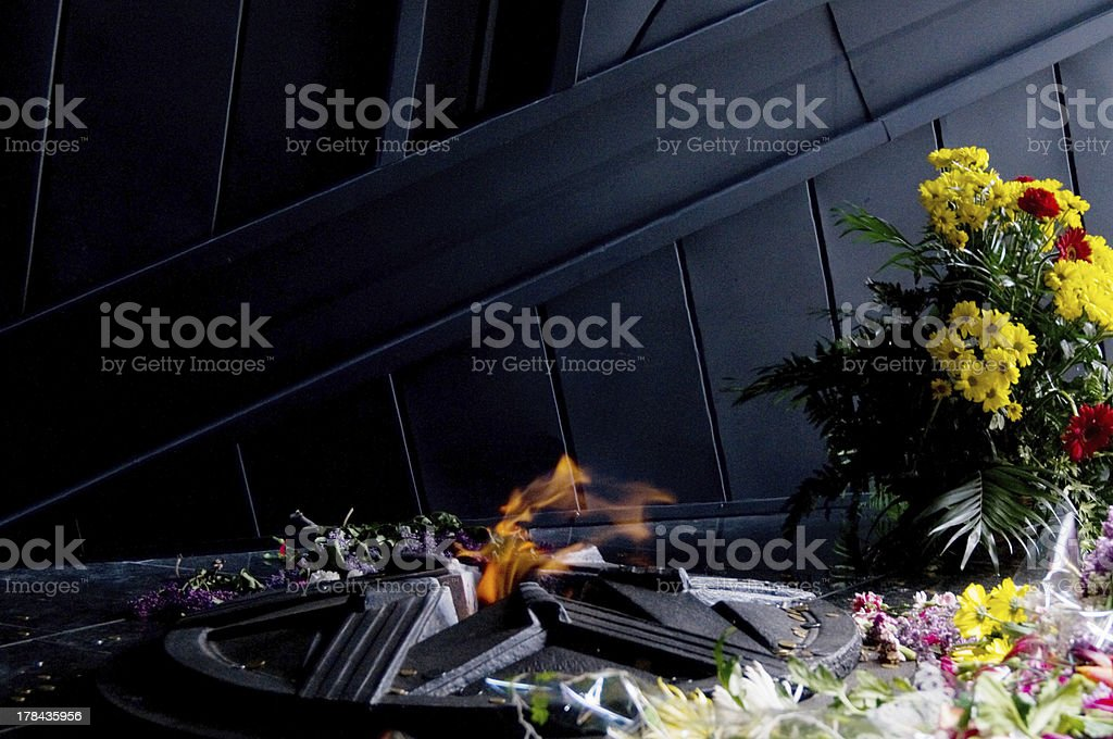 monument to Soviet soldiers stock photo