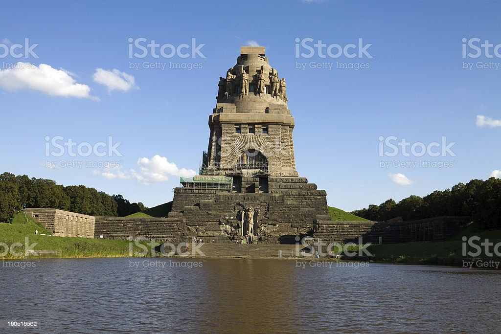 Monument to the Battle of Nations in Leipzig city royalty-free stock photo