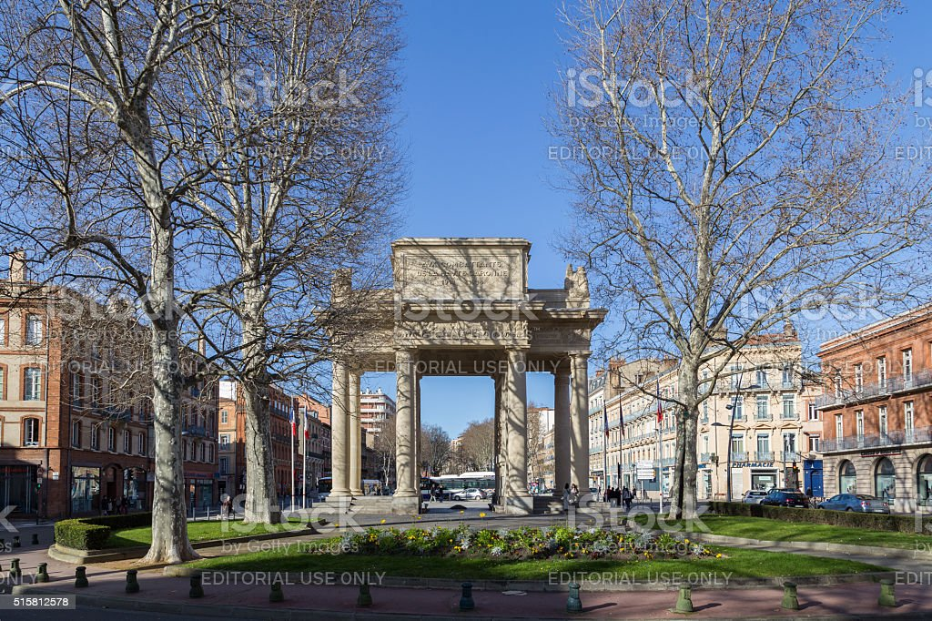 Monument aux Morts in Toulouse, France stock photo