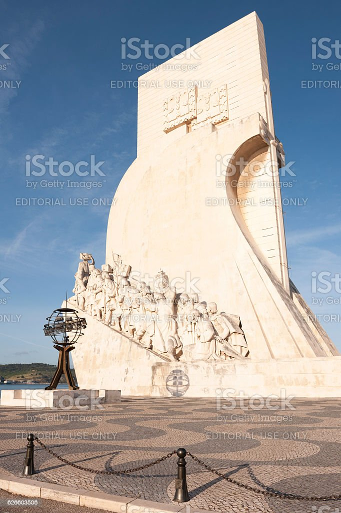Monument to the Discoveries in Lisbon in Portugal stock photo