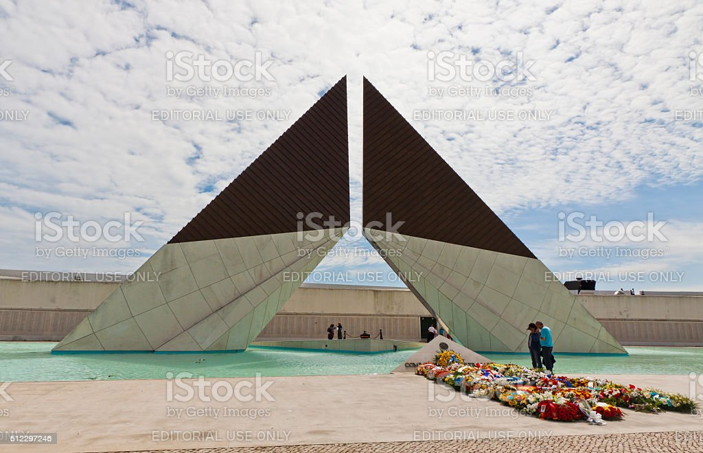 Monument to the Fighters Overseas in Lisbon, Portugal stock photo