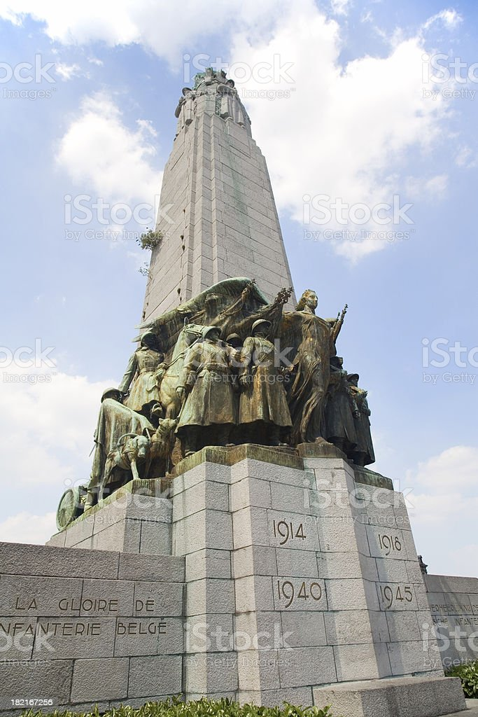 Monument to the glory of Belgian Infantry stock photo