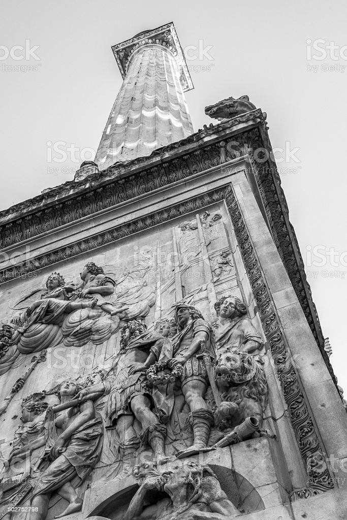 Monument to the Great Fire of London stock photo