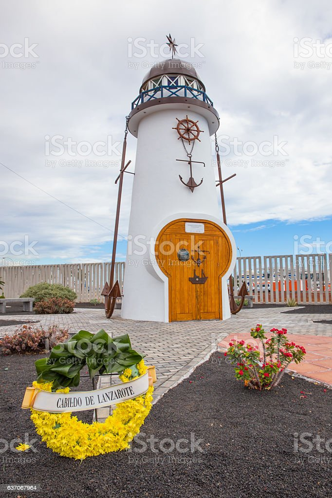 Monument to the Martyrs of the Sea in Arrecife, Lanzarote stock photo