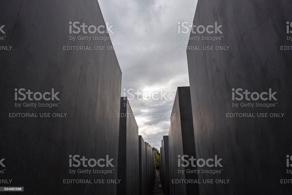 Monument To The Murdered Jews Of Europe in Berlin, Germany stock photo