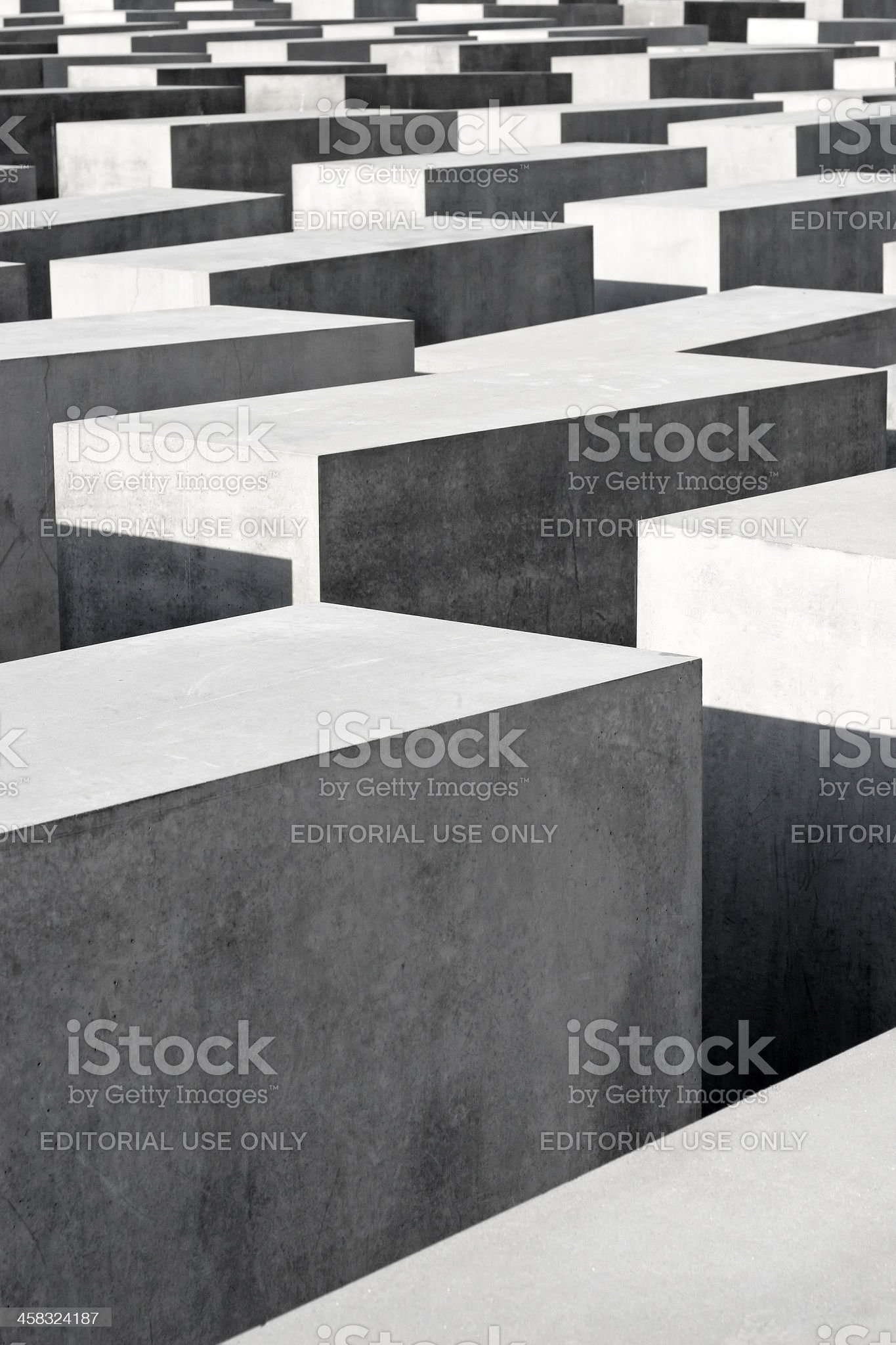 Monument To The Murdered Jews Of Europe in Berlin royalty-free stock photo
