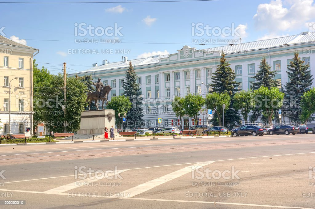 Monument to the prince Mikhail of Tver stock photo