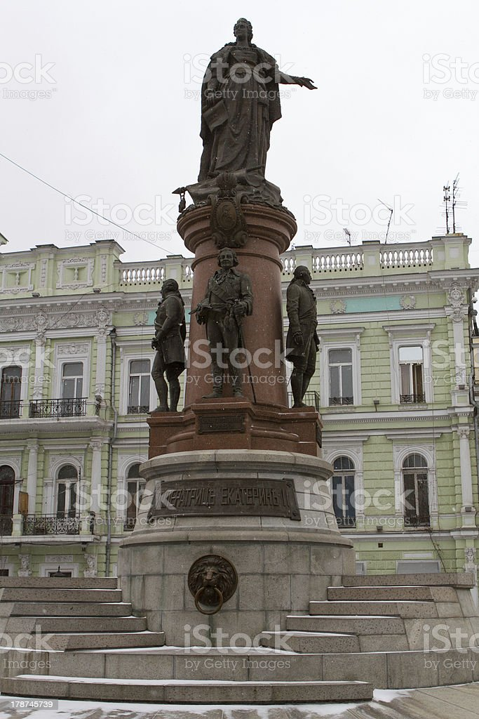 monument to the russian empress catherine II and potyomkin  odessa stock photo