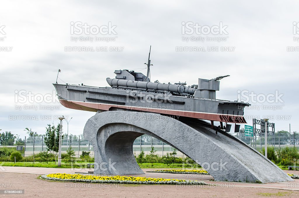 monument to the sailors of the Baltic katernikam stock photo