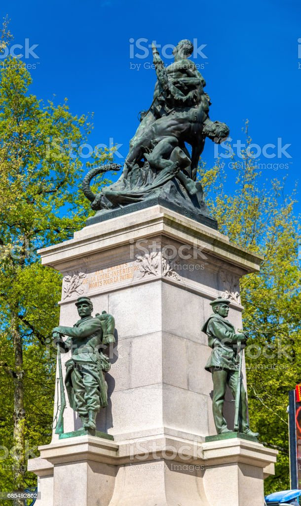 Monument to the victims of the Franco-Prussian War in Nantes, France stock photo