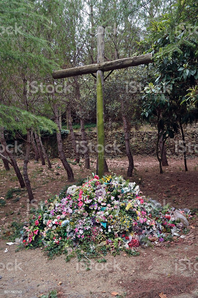 Monument to those killed in the Spanish Civil War (1936-39) stock photo