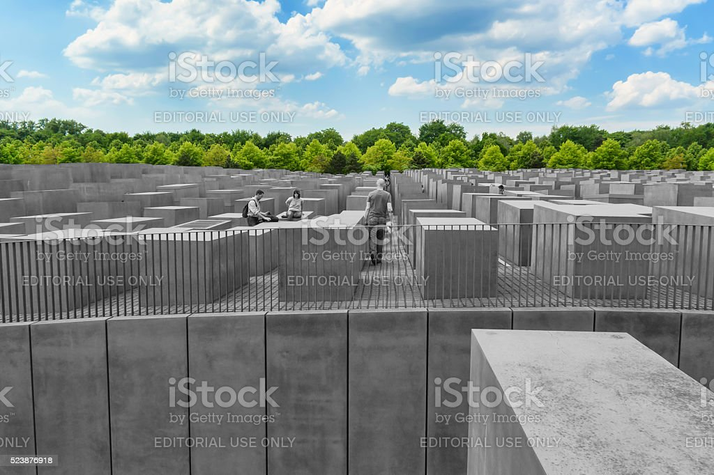 Monument to victims of the Holocaust in Berlin stock photo