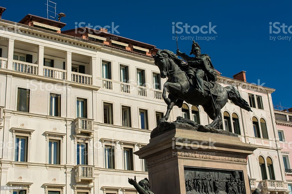 Monument to Victor Emmanuel II Venice, Italy stock photo