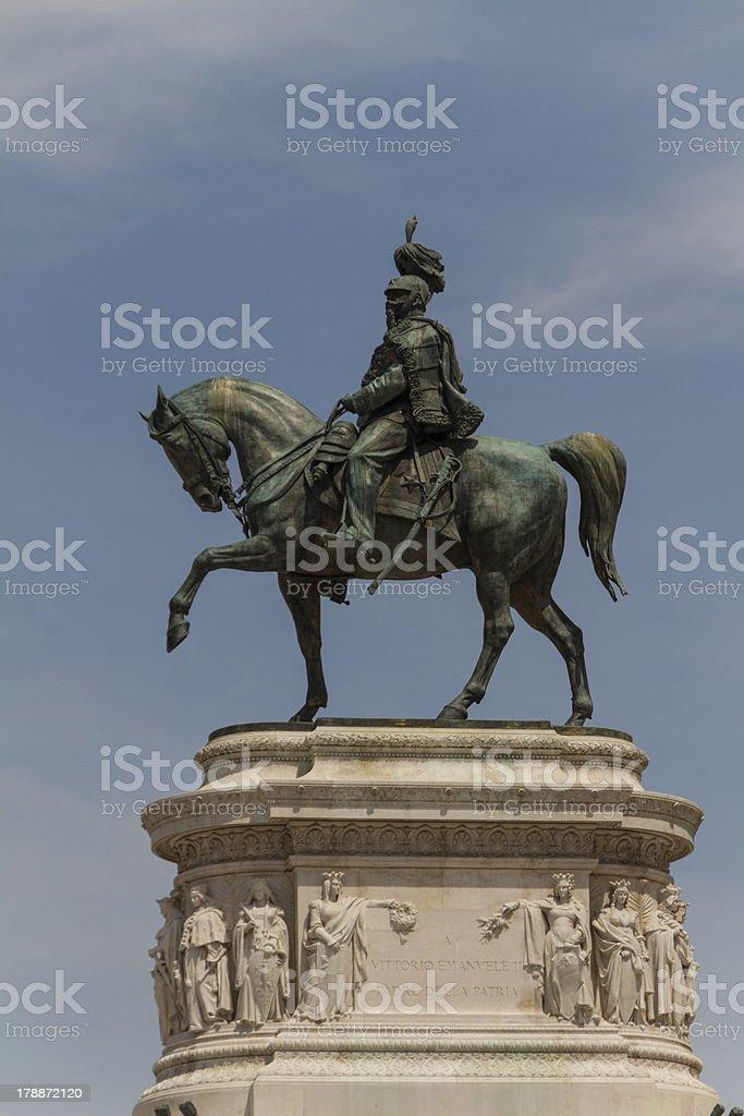 Monument to Vittorio Emanuele di Savoia, Piazza Venezia, Rome, I royalty-free stock photo