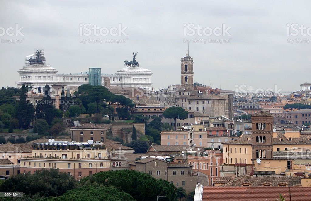 Monument to Vittorio Emanuele II royalty-free stock photo
