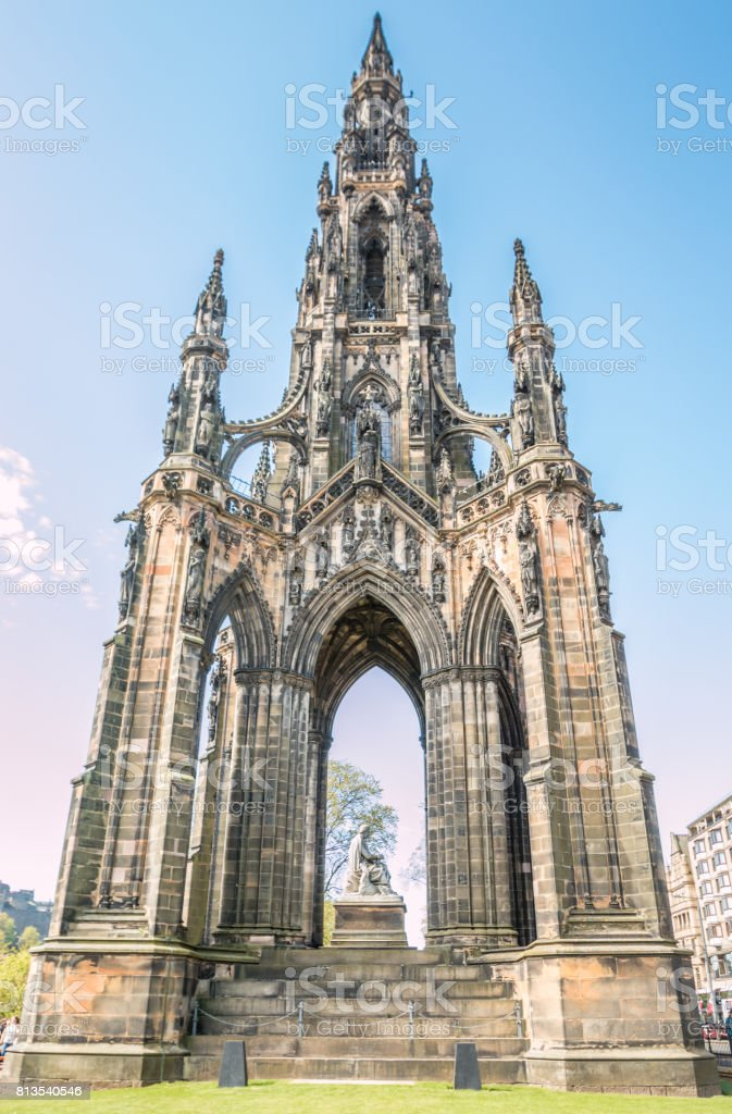 Monument Tower in Edinburgh stock photo