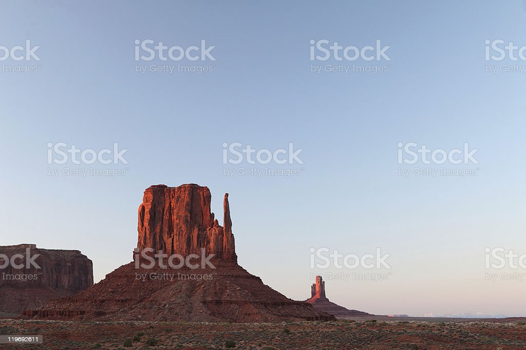 Monument Vallet Buttes stock photo