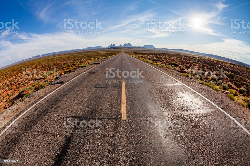 Monument Valley area in Utah, USA stock photo