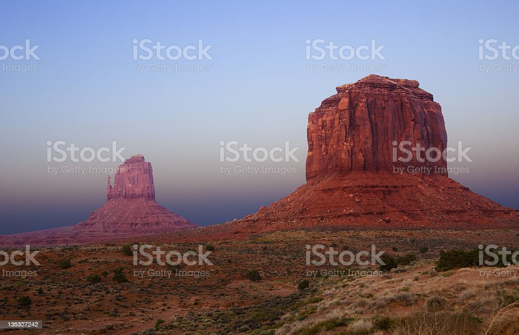 Monument Valley at Dusk royalty-free stock photo