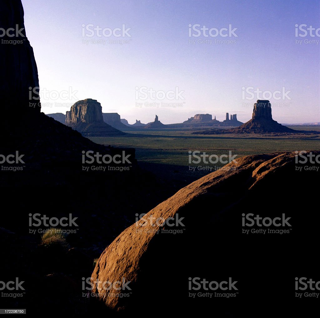 Monument Valley at Dusk stock photo