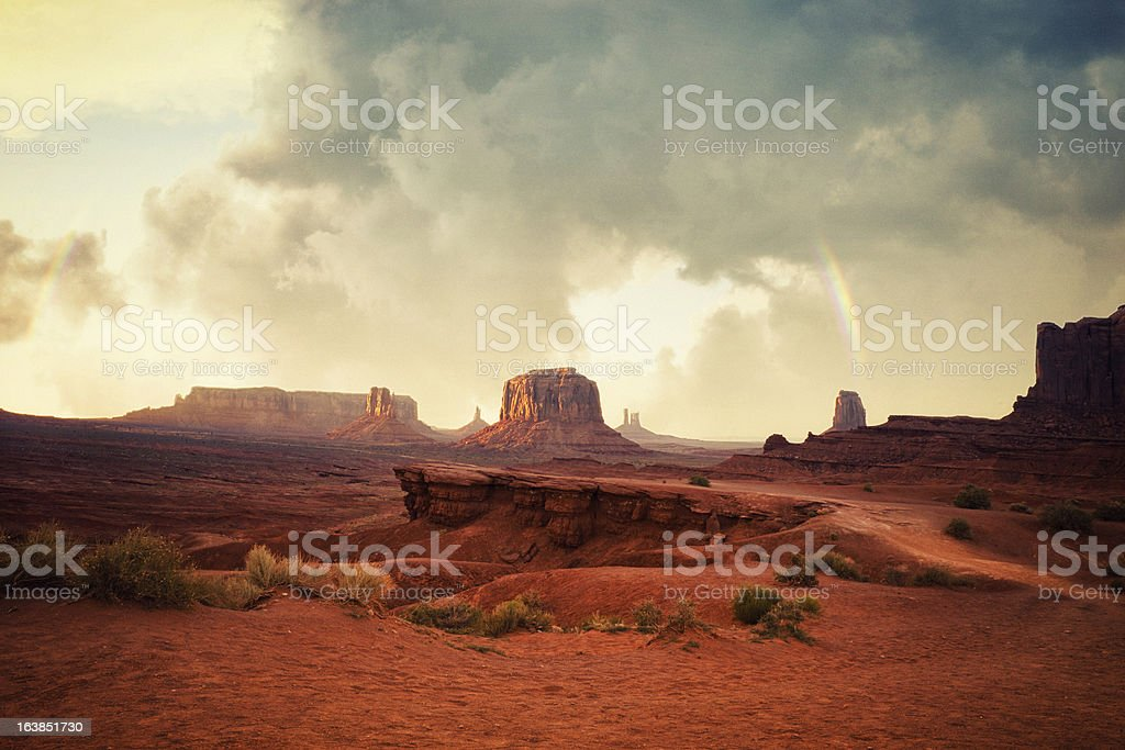 Monument Valley at Sunset royalty-free stock photo