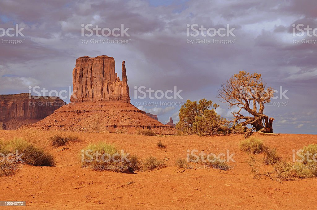 Monument Valley before rain royalty-free stock photo
