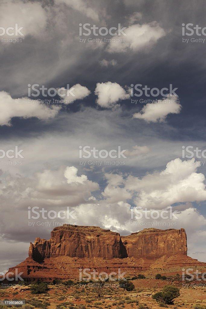 Monument Valley Butte Desert Landscape royalty-free stock photo