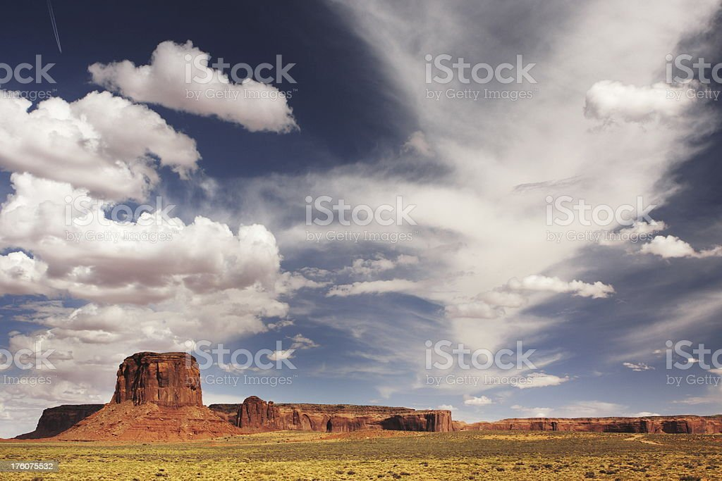 Monument Valley Butte Desert Landscape royalty-free stock photo