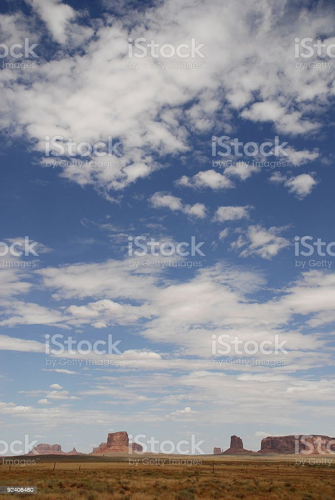 Monument Valley Clouds royalty-free stock photo