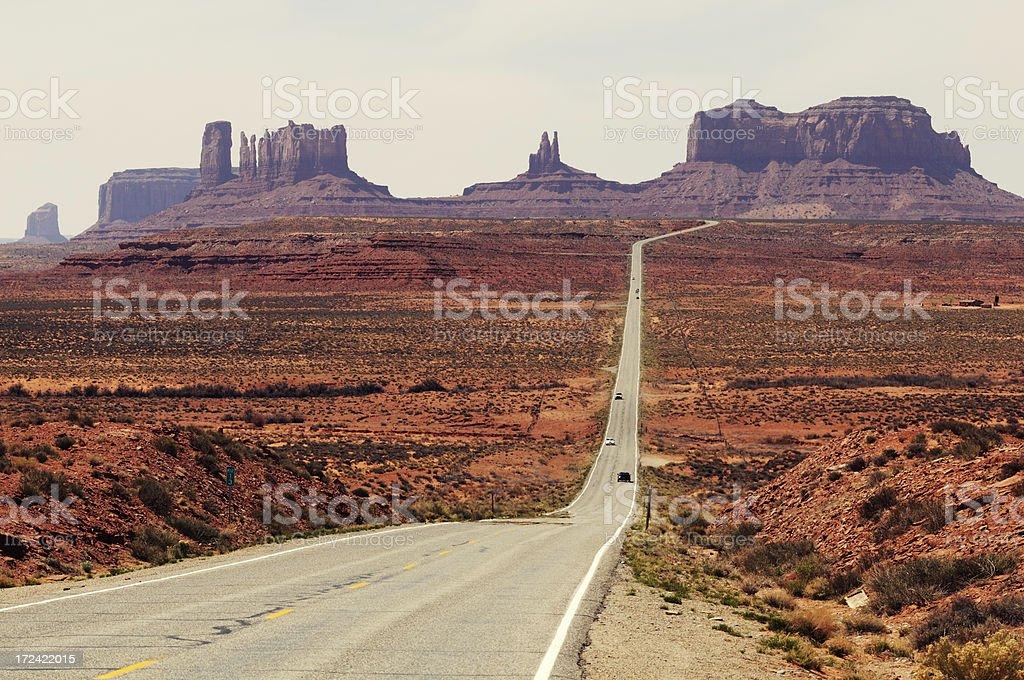 Monument Valley daylight landscape, Utah, Arizona, USA royalty-free stock photo