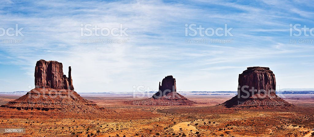 Monument Valley Desert Rocks stock photo