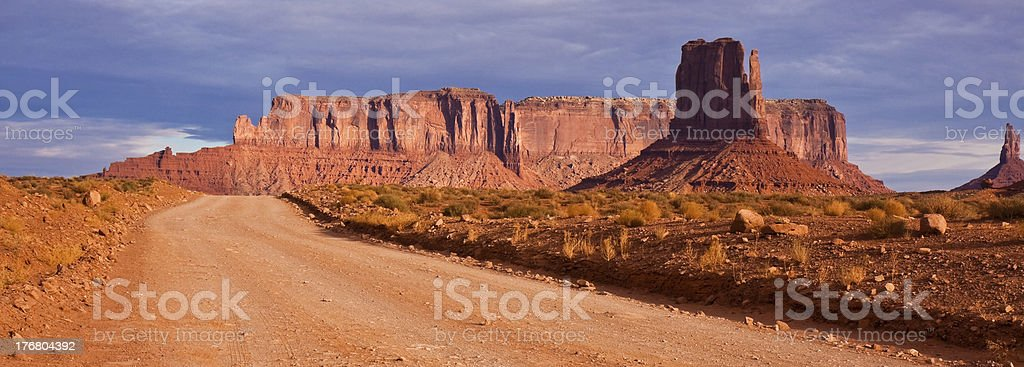 Monument Valley Dirt Road royalty-free stock photo
