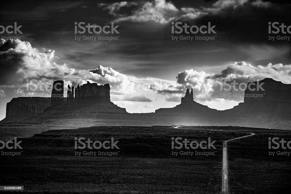 Monument Valley Forrest Gump Point stock photo