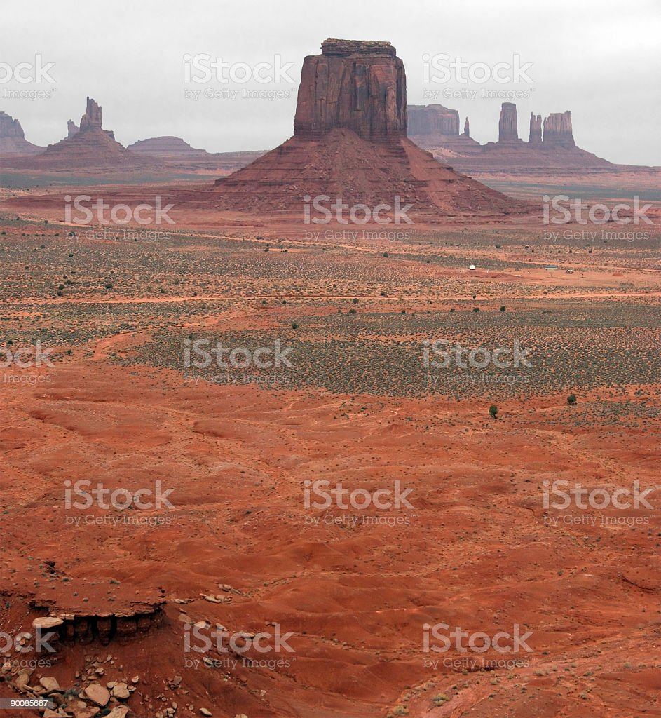 Monument Valley From Artists Point royalty-free stock photo