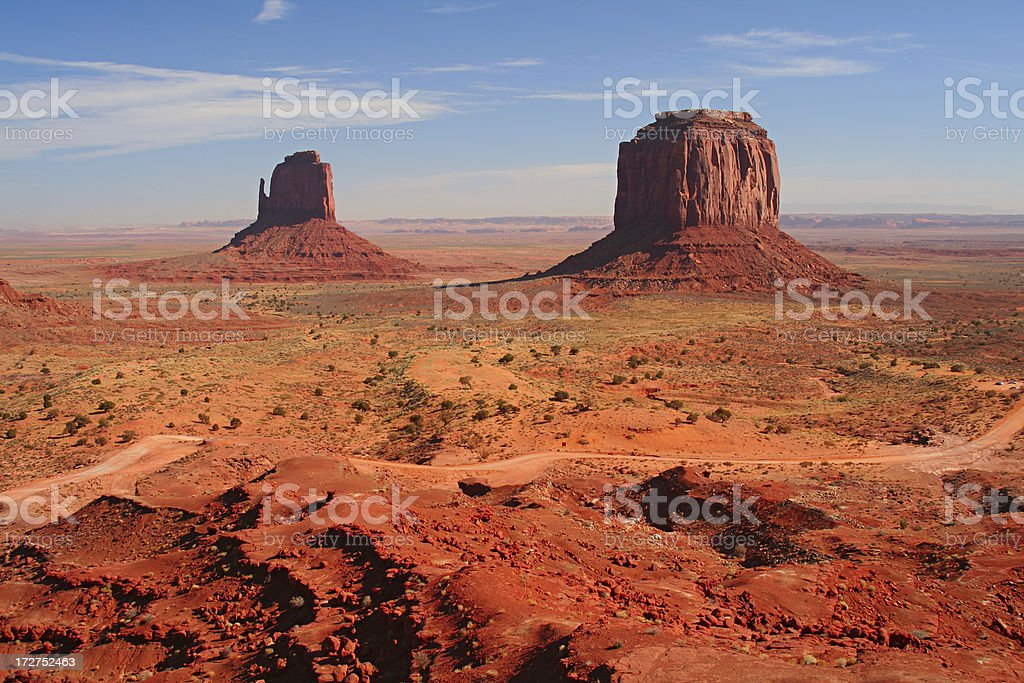 Monument Valley in Arizona and Utah. royalty-free stock photo