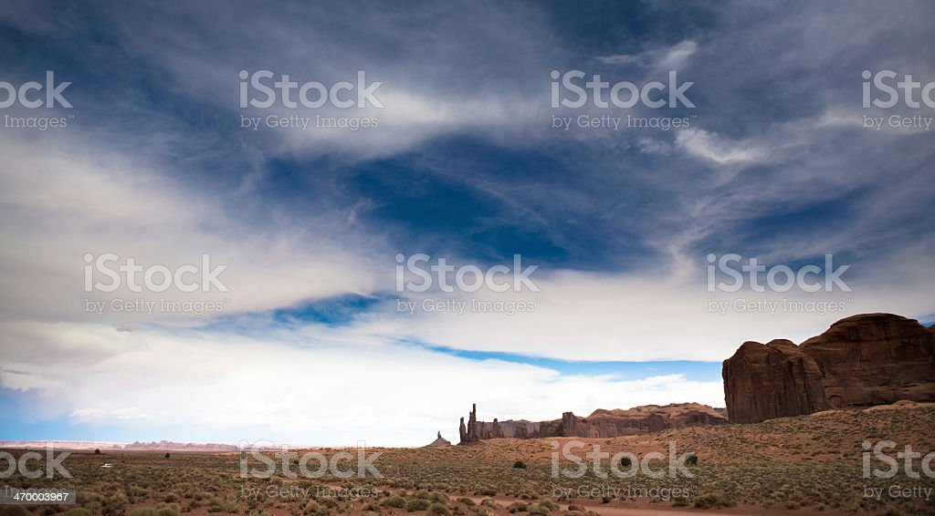 Monument Valley in Arizona and Utah royalty-free stock photo
