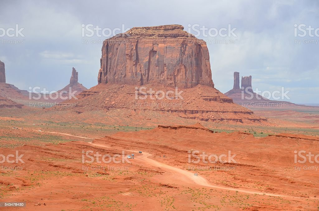 Monument Valley in Kayenta, AZ USA stock photo