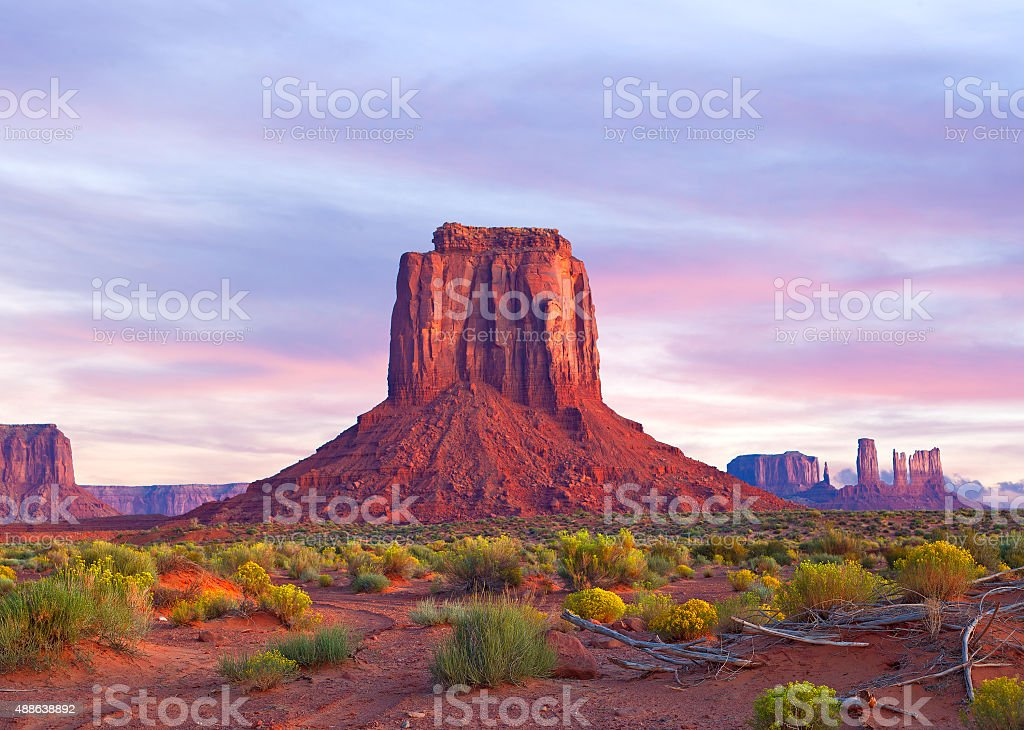 Monument Valley in Utah and Arizona stock photo