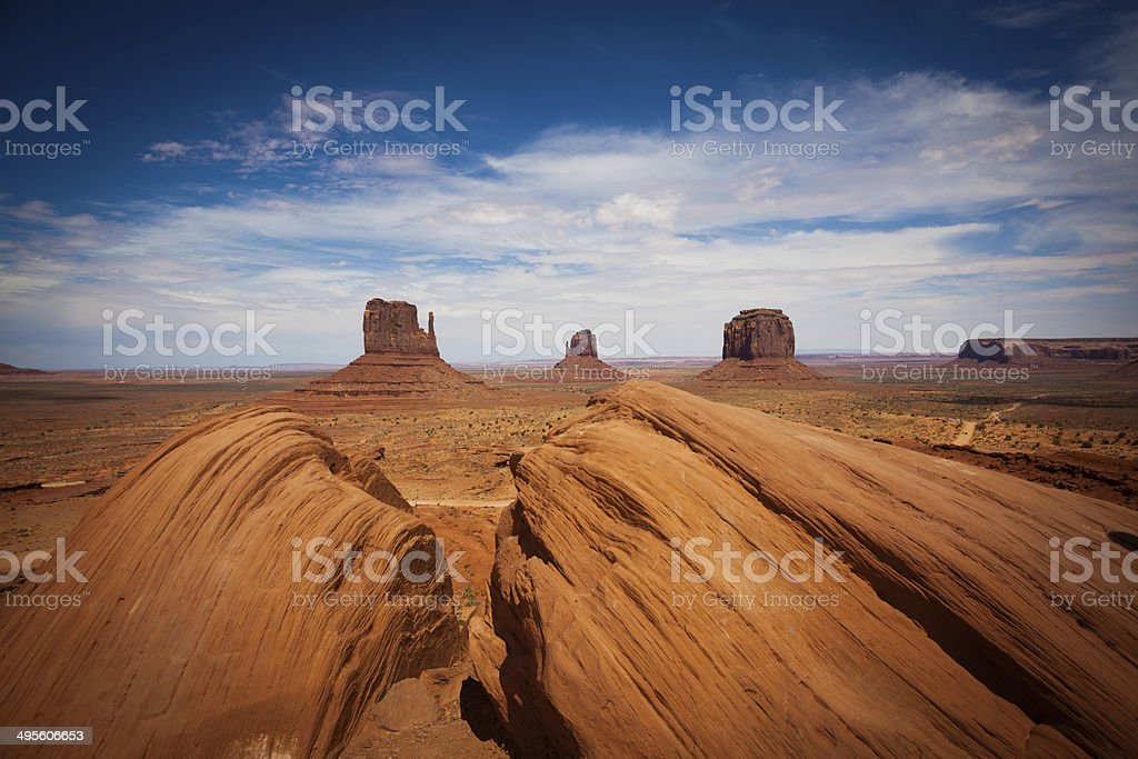 Monument Valley Landscape, USA Landmark, royalty-free stock photo