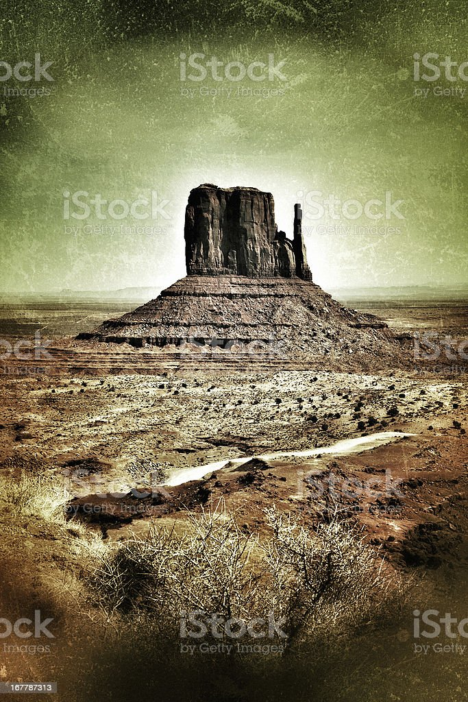 Monument Valley Mesa Wild West Landscape royalty-free stock photo